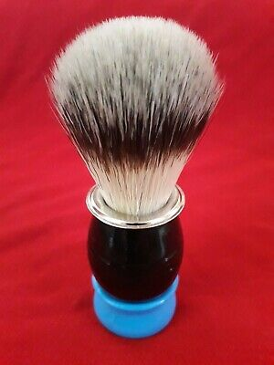 Synthetic shaving brush - Alfonse Blues Band - Blaireau rasage artisanal - 20 mm