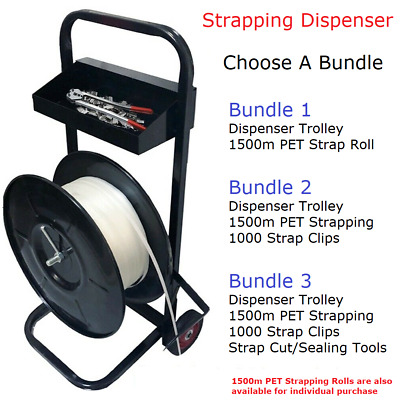 Portable Plastic Strap Trolley Strapping Dispenser Cart Various Bundle Options