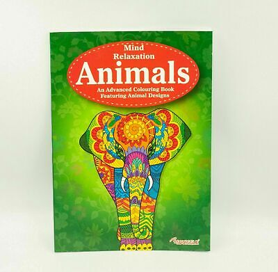 A4 Animals Adult Calming Colouring Book Stress Relief Designs Relaxing Books