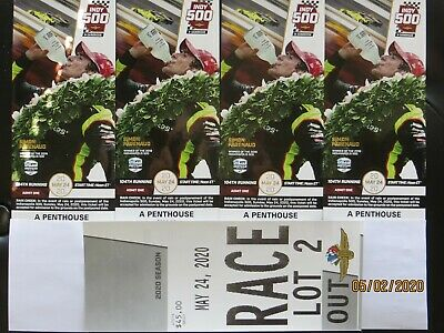 (4) 2020 VIP INDY 500 Tickets: A Penthouse + Lot 2 Parking!  August 23, 2020