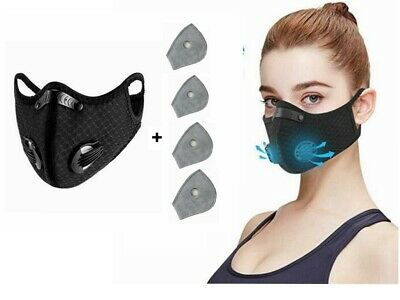 Cycling Outdoor Sports Protective Face Mouth-muffle Reusable with Filters
