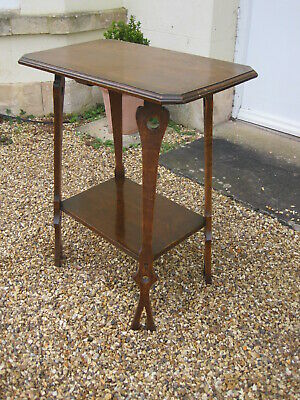 Antique Oak Arts and Crafts Side Table M
