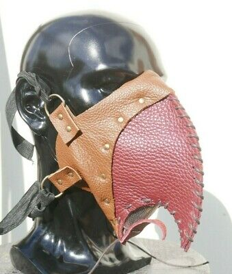 Leather Face Mask Filter Ppe Protection Handmade Plague Doctor Steampunk Goth
