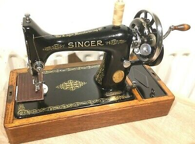 Beautiful Vintage Singer 99K Hand crank sewing machine FOR LEATHER