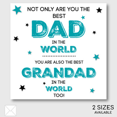 Father/'s Day Card Grandad Stars Tassel Embellished Happy Father/'s Day
