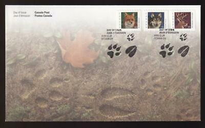 Canadian FDC 2000 Mammal definitive 60/75/1.05, sc#1879-1881