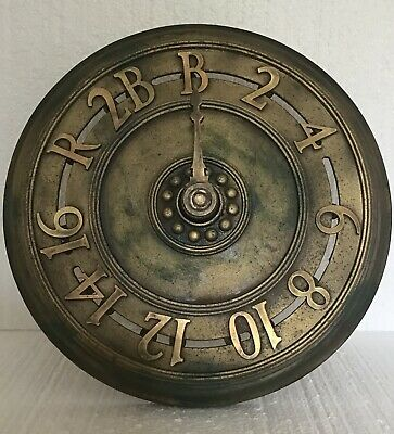 Antique Cast Iron Elevator Floor Indicator 11 Floors - Architectural NYC Bldg