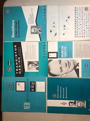 Vintage 1950's General Electric Transistor Semiconductor Brochures-Lot Of 6