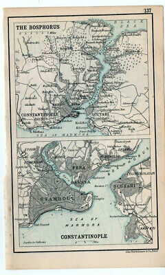 Map Of Constantinople & The Bosphorus Antique