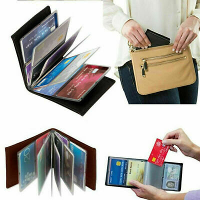 Amazing Slim RFID Wallets Black Leather New H3Z2 E5J5