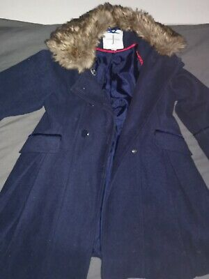 Girls Jasper Conran Navy Coat Aged 7 Years