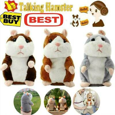 Cheeky Hamster Repeats What You Say Electronic Pet Talking Plush Toy Cute 2020