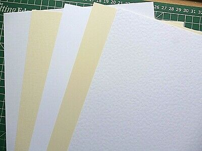 A5 Textured Card Linen / Hammer / Smooth / Ivory / White 300gsm High QUALITY
