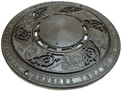 Antique Cast Iron Register Floor Grate Architectural 1897 DUBUQUE IA ADAMS CO.