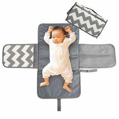 LEADSTAR Portable Nappy Changing Mat, Diaper Changing Pad with Head Cushion