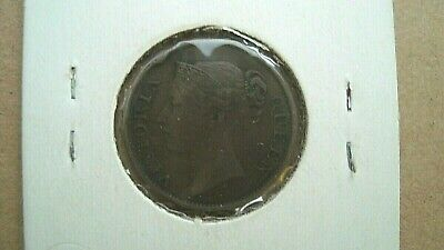 STRAITS SETTLEMENTS 1845 Queen Victoria on 1/2 Cent coin East India Company