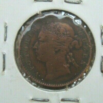 STRAITS SETTLEMENTS 1901 Queen Victoria on 1/4 Cent coin