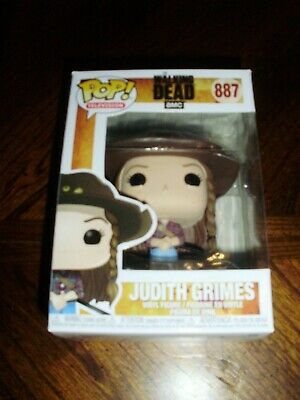 Funko Pop Walking Dead Judith Grimes #887 With Protective Case & Form Fit Box