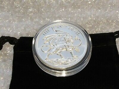 2 oz Fine Silver .999 THE JERSEY DEVIL Silver Round with Capsule & Coin Pouch