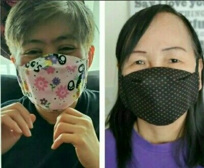 Washable/Reusable Face Mask with filter pocket, 100% cotton. Ships from Canada.