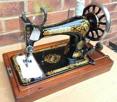 1899 Antique Singer 28K HandCrank Sewing Machine Vibrating shuttle Sewing machin