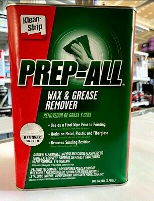 Klean Strip Prep-All GSW362 Wax and Grease Remover Paint Prep (1 Gallon )new