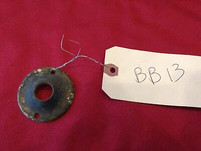 1 Vtg Stamped Brass Round Door Knob Rosette Escutcheon Plate Part - Bb13