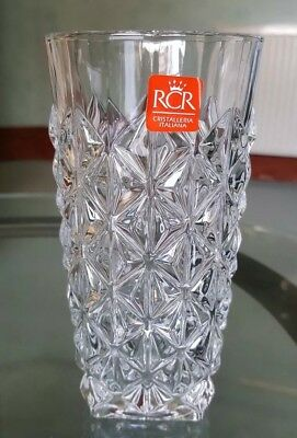 Set of 6 RCR Luxion Crystal Enigma Tumblers. Hi-Ball 40cl Drinking Water Glasses