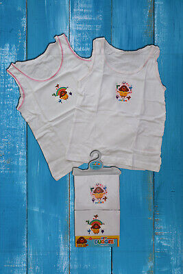 Girls 2 Pack Hey Duggee Vests - Officially Licensed 18/24M, 2-3yr, 3-4yr, 4-5yr