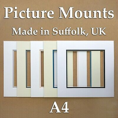 Picture Mounts - A4 double mounts, packs of 5/10