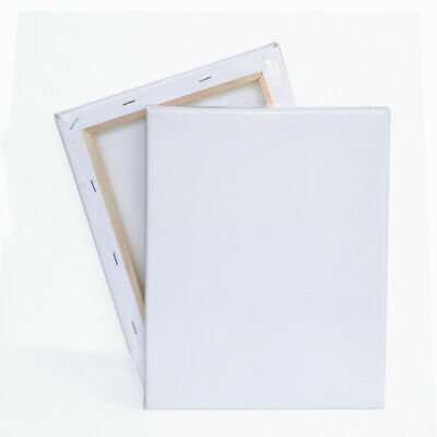 Blank Artist Canvas Art Board Plain Painting Stretched Framed White 100% Cotton