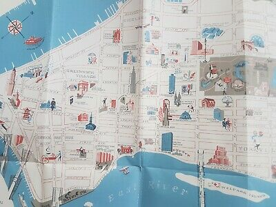 New York City Visitor's Guide & Map Subway and Graphic illustrated map 1967 VGC