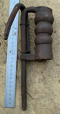 Antique East India Company Wrought Iron Lock - 18th Century - With Key - #38
