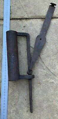 Antique East India Company Wrought Iron Lock - 18th Century - With Key - #2