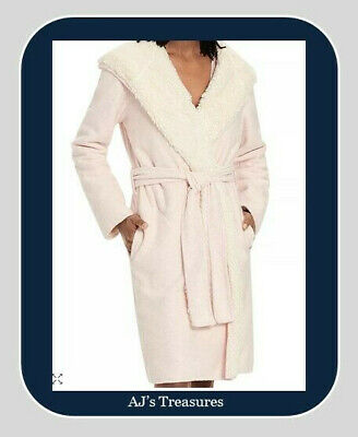 NWT ~ Women's UGG Portola Reversible Robe ~ Seashell Pink ~ Size Small