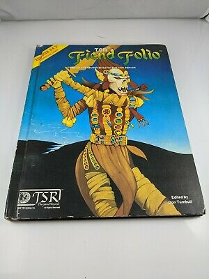 Advanced Dungeons & Dragons (AD&D) TSR Fiend Folio 1981 Hardcover 1st Printing