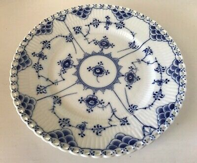 1955~Royal Copenhagen BLUE FLUTED FULL LACE ~ 1086 ~ Salad Plate~First Quality