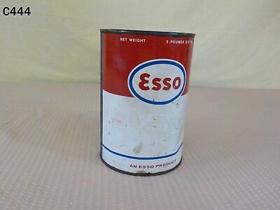 Vintage 1950's ESSO Motor Oil 5 Pound Grease Can