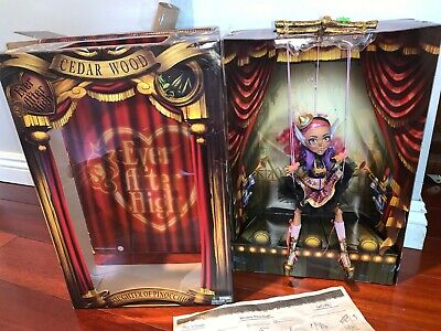SDCC 2016 EXCLUSIVE MATTEL EVER AFTER HIGH PUPPET CEDAR WOOD DOLL HUGE LINES LE
