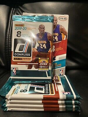 2019-20 PANINI DONRUSS NBA Basketball (1) NEW RETAIL PACK 8 CARDS MORANT? ZION?