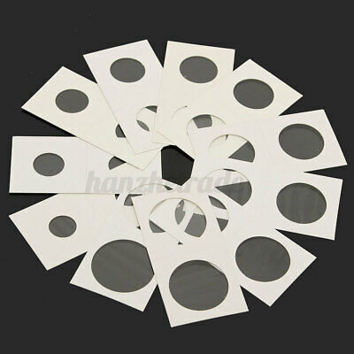 50Pcs Assorted Self Adhesive Stamp Coin Holders Cardboard Storage Paper Case