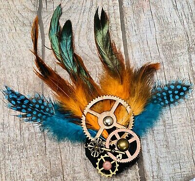Steampunk Hand Crafted  Fasinator Clip/brooch