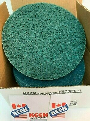 """10 Pack- Fine 7"""" Hook & Loop Surface Conditioning Disc KEEN Abrasives #55636"""