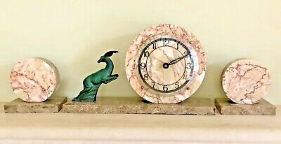 Original antique French marble clock mantel clocks