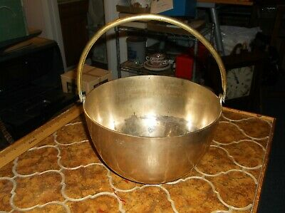 Large Brass Bowl with handle
