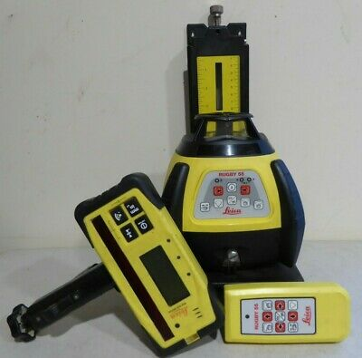 Leica Rugby 55 Rotating Laser Level & Rod eye digital & Remote control & Stand