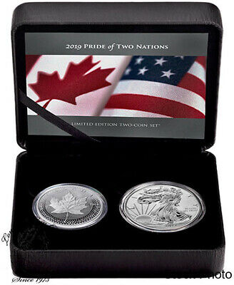 Canada & United States 2019 Pride of Two Nations Limited Edition Two-Coin Set