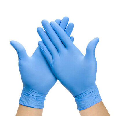 100 Blue Nitrile Gloves (Powder and Latex Free) High Quality, Fast Shipping!!