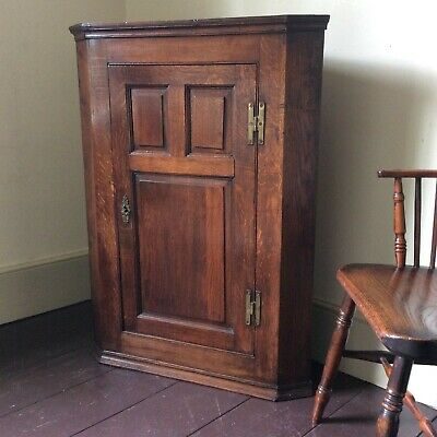 Oak Corner Cupboard 18th Century George III