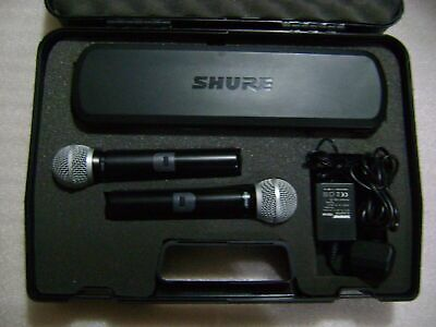 shure 288 dual microphone  with receiver 854-865MHz (101)
